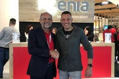 Bruno Siviero titolare della Siviero Impianti assieme a Raffaele Di Crosta Presidente e AD di Ksenia Security Fiera Sicurezza Milano 2019