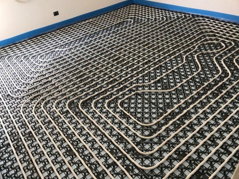 Realizzazione impianto radiante a pavimento in appartamento