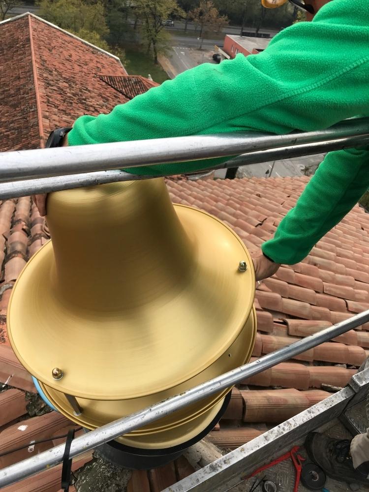 Esempio di installazione a fungo - Chiesa Gesù lavoratore a Marghera (VE)